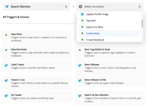 evernote twitter integration mentions