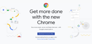 chrome browser homepage screenshot
