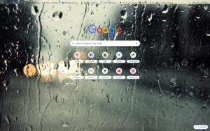 chrome raindrops theme screenshot
