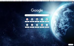 chrome earth in space theme screenshot