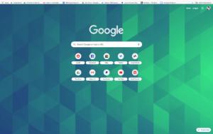 chrome blue green cubes theme screenshot