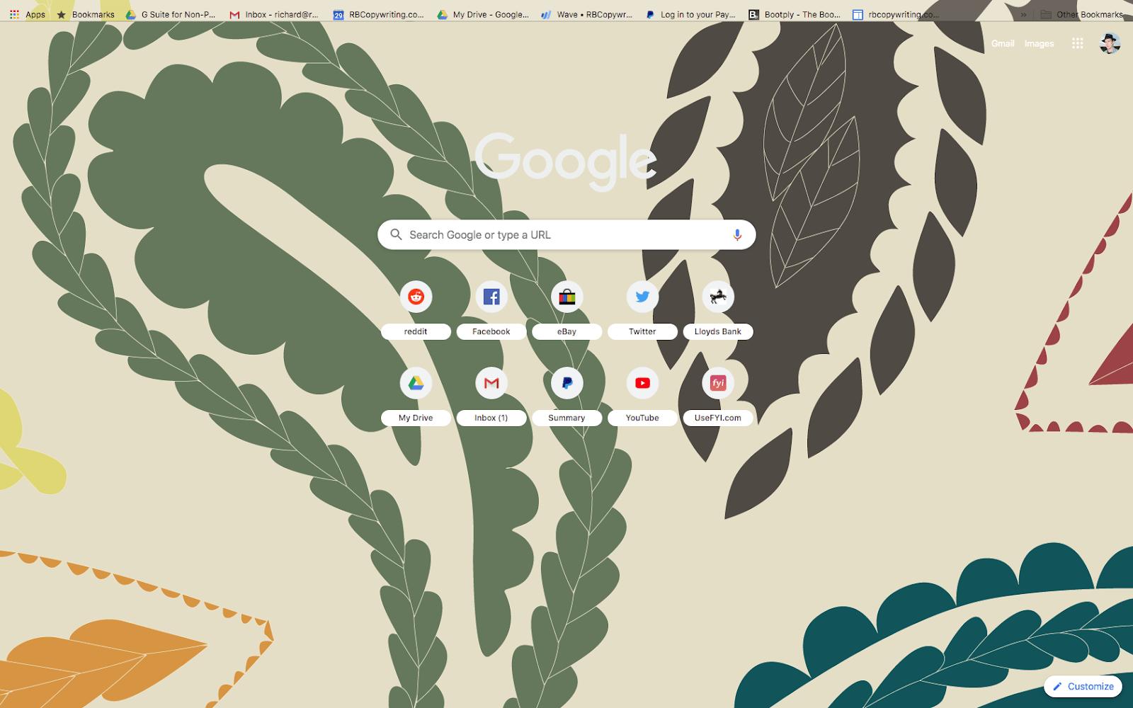 chrome harvest paisley theme screenshot