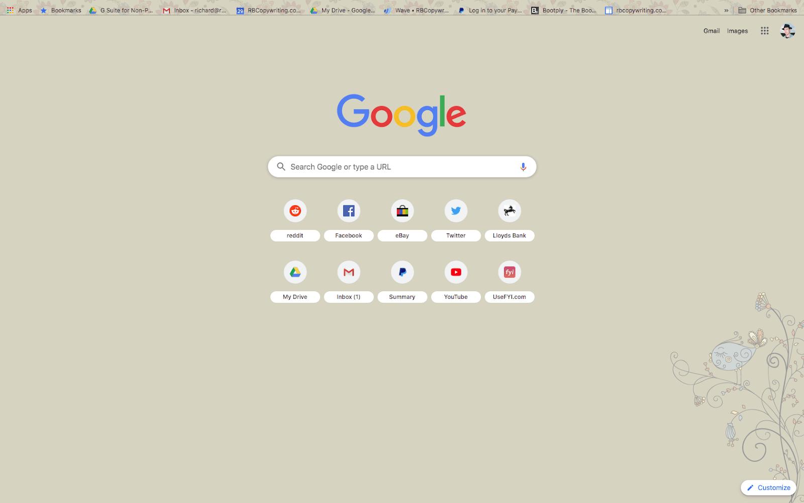 chrome doink theme screenshot