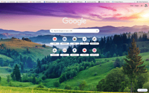 chrome beauty theme screenshot
