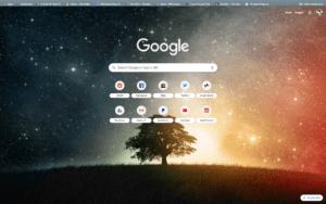 chrome lone tree theme screenshot