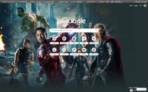 chrome avengers theme screenshot