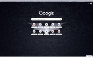 chrome batman theme screenshot
