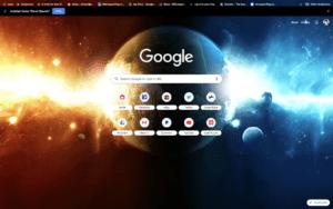 chrome planet spaceix theme screenshot