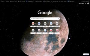 chrome real moon theme screenshot