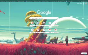 chrome no mans land theme screenshot