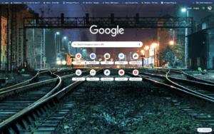 chrome midnight train dark blue theme screenshot