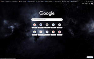 chrome dark space theme screenshot