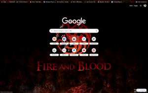 chrome game of thrones theme screenshot