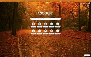 chrome amber autumn theme screenshot