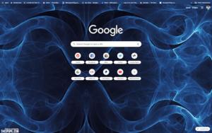 chrome abstract blue theme screenshot