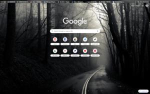 chrome into the mist theme screenshot
