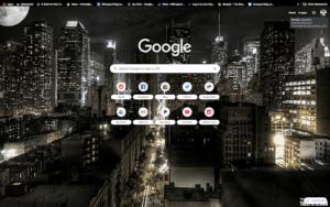 chrome night time in nyc theme screenshot