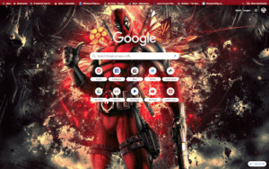 chrome deadpool theme screenshot