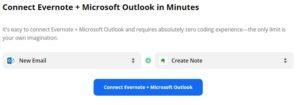 zapier evernote microsoft integration dialog box