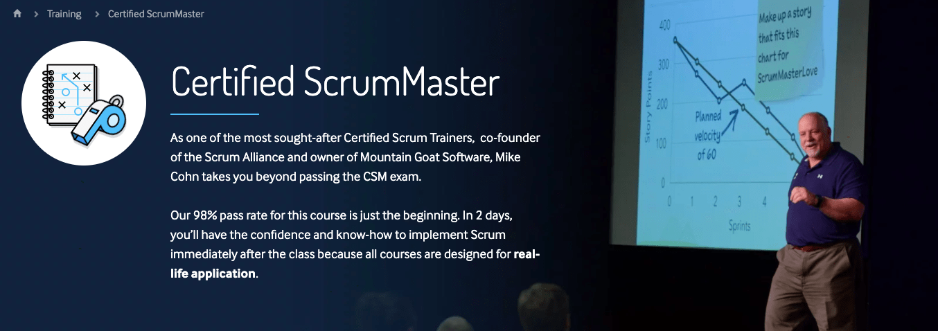 scrum training course screenshot