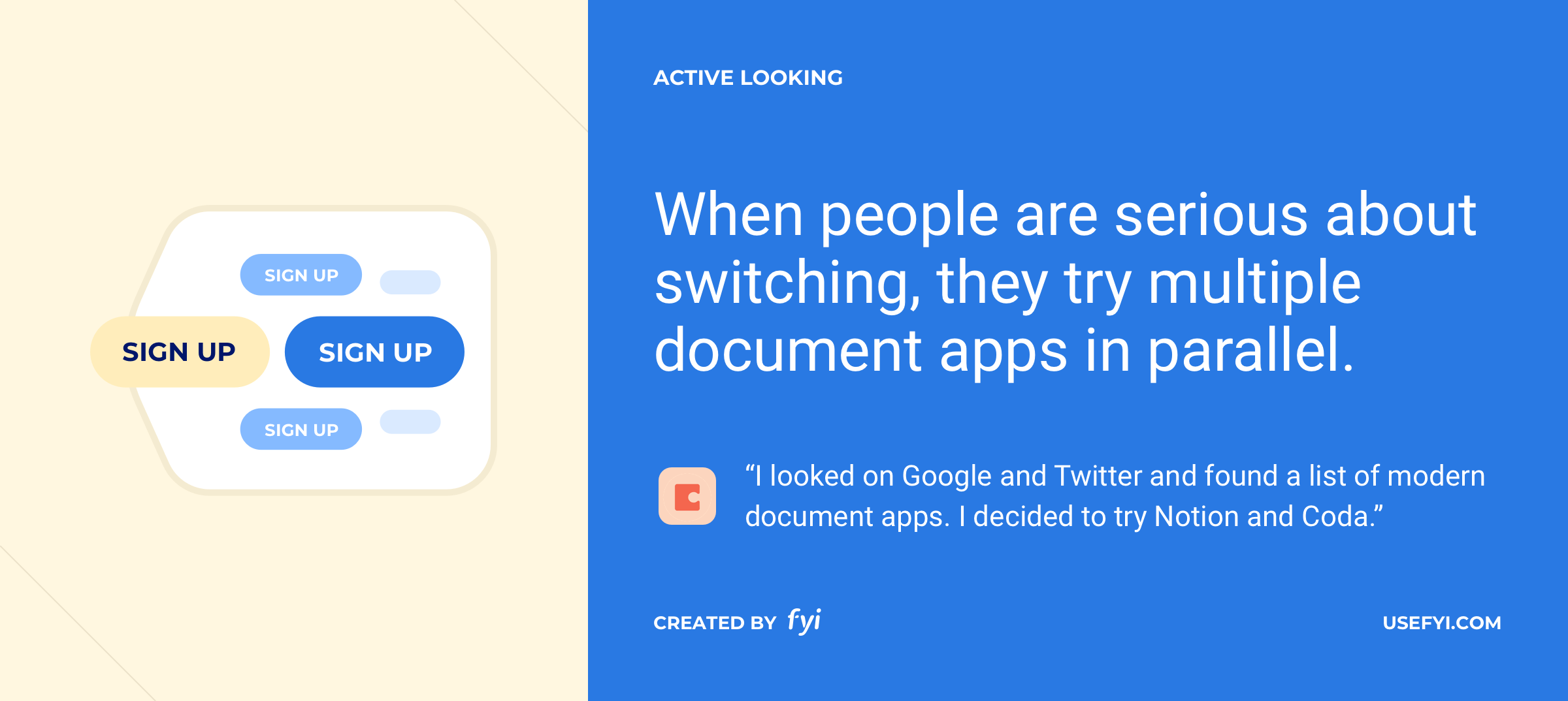 actively looking for document apps