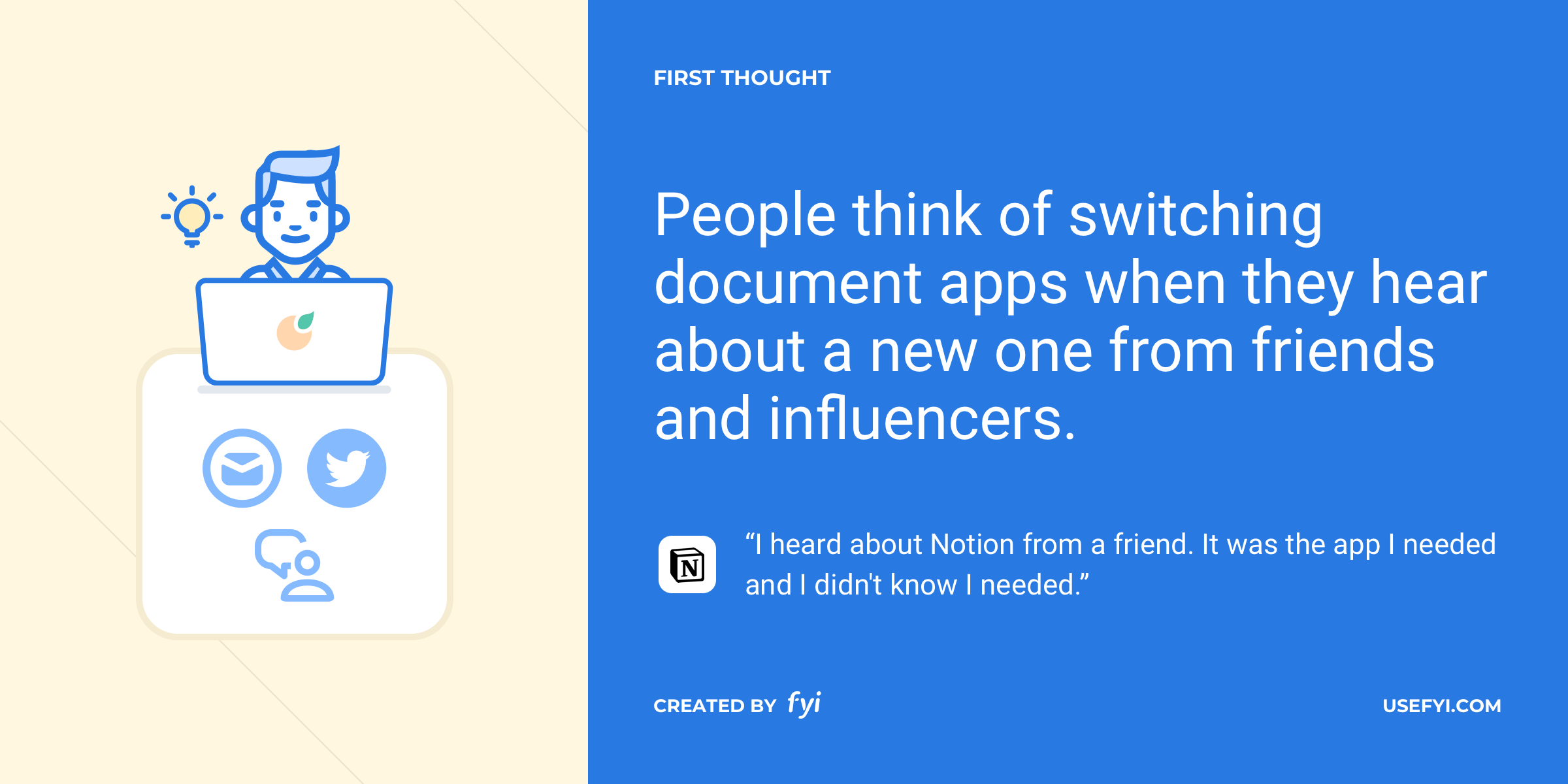 document switching first thought notion
