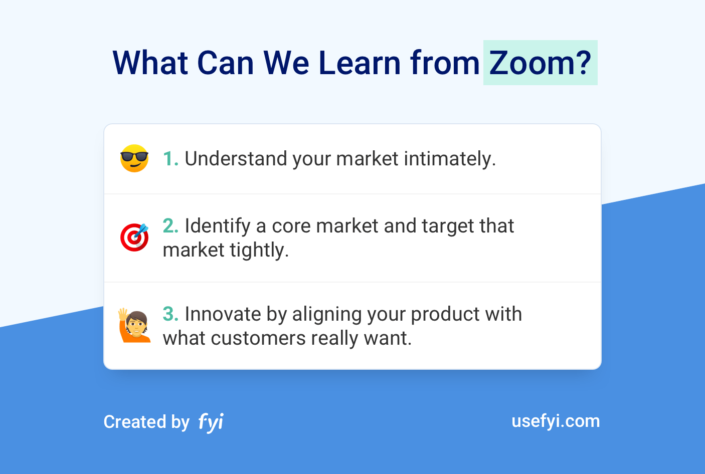 Zoom learnings