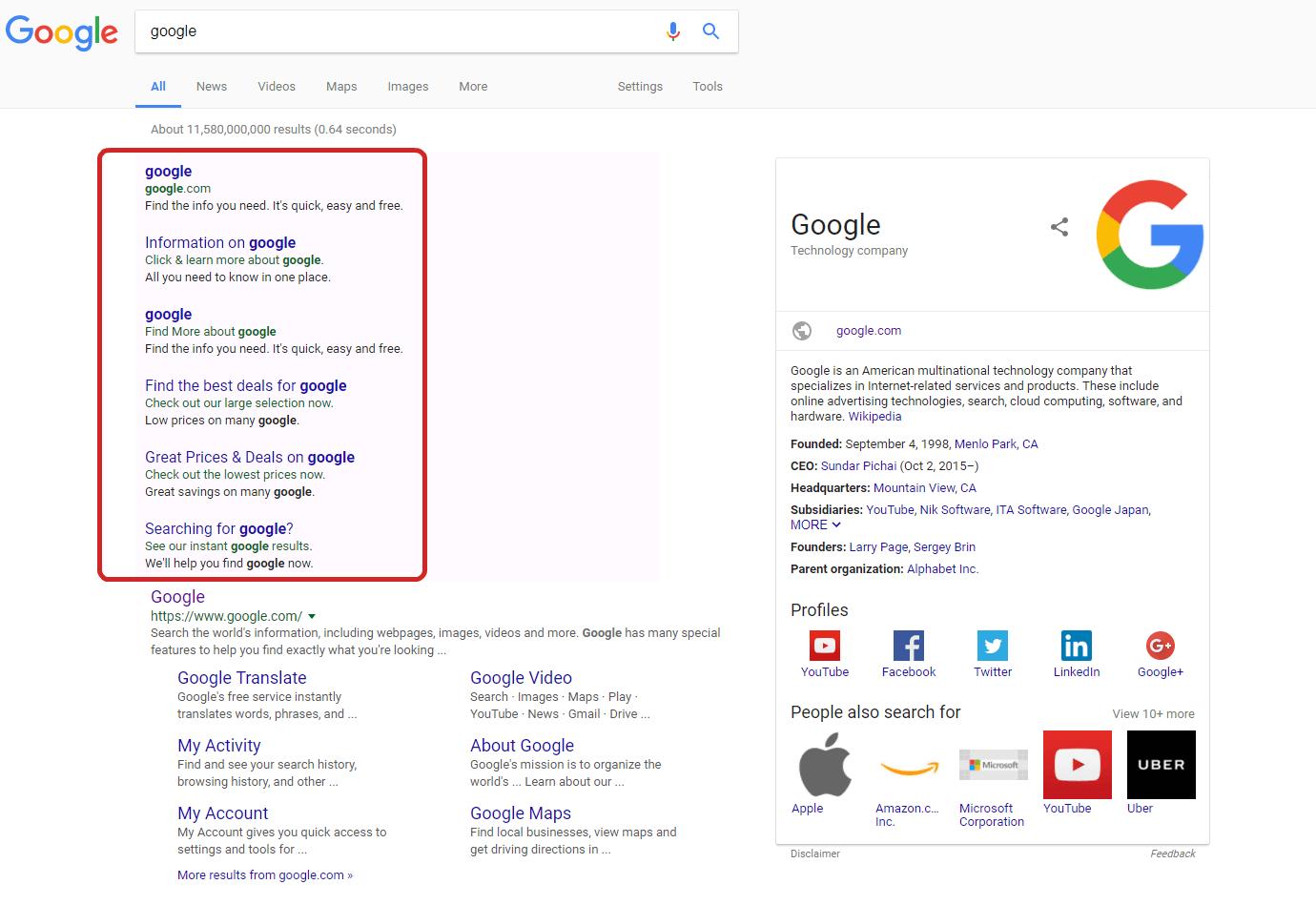 chrome adware screenshot