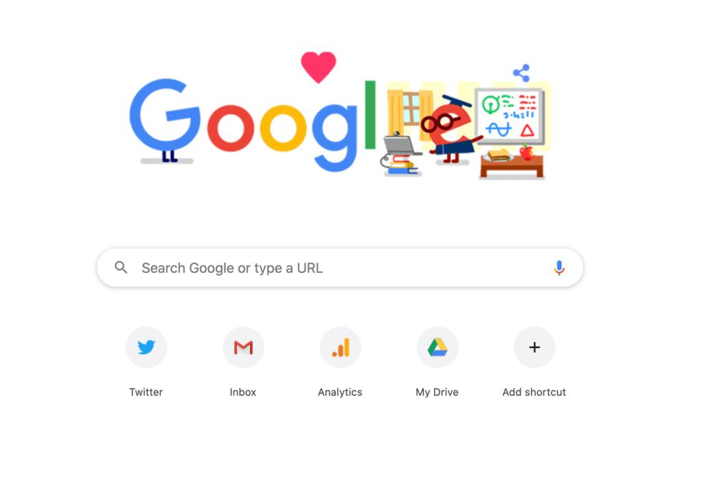 Default Chrome Homepage