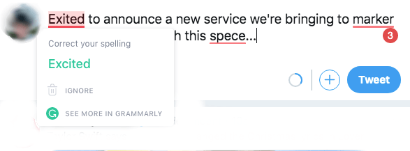 grammarly in action