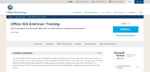 global knowledge office 365 training homepage