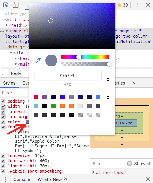 chrome color picker screenshot