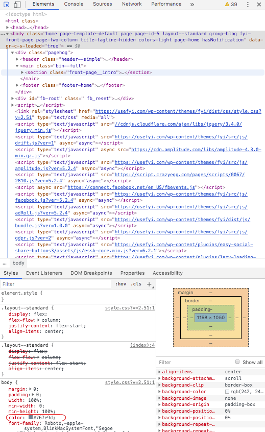 web page elements screenshot