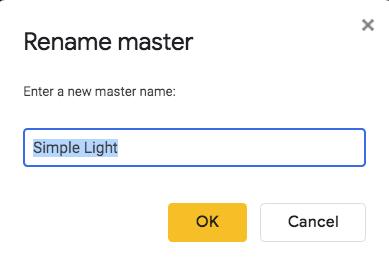 rename custom theme dialog