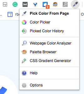 colorzilla chrome extension menu