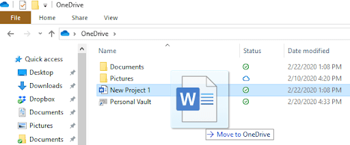 windows onedrive folder