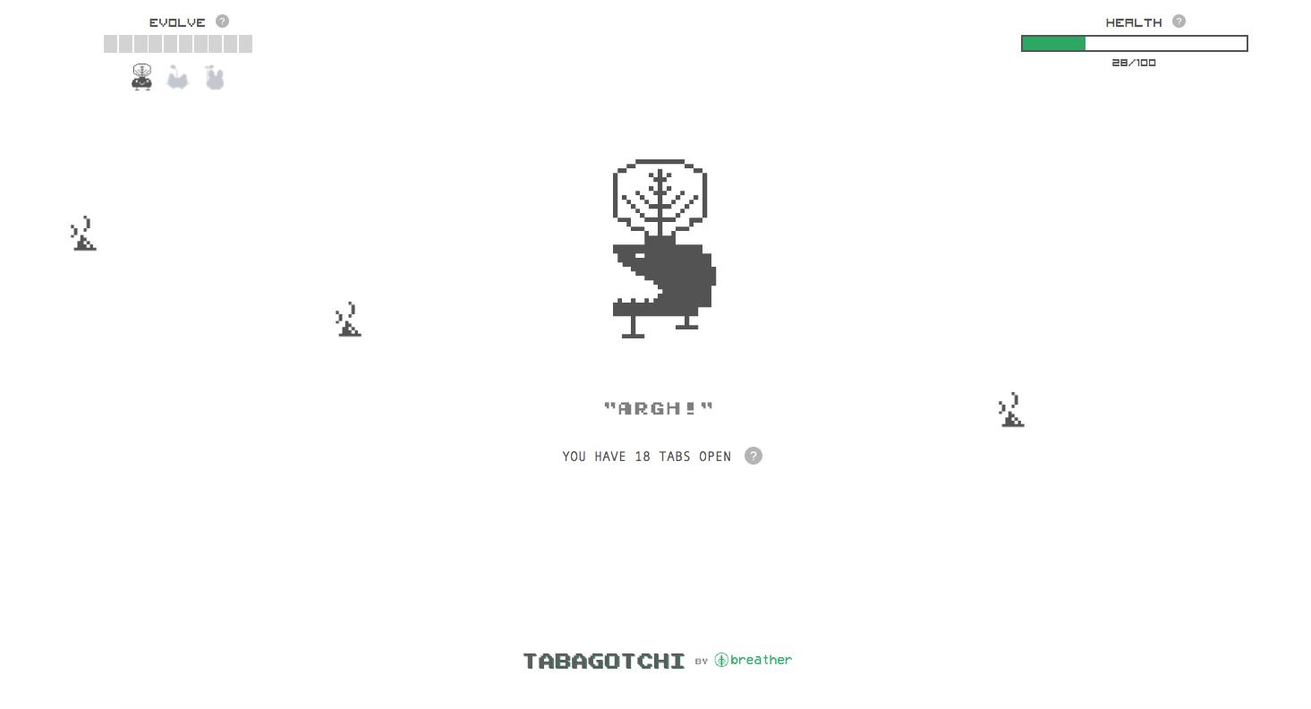 tabagotchi game screenshot