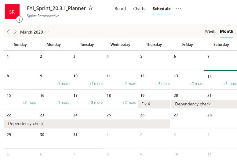 office 365 planner calendar view