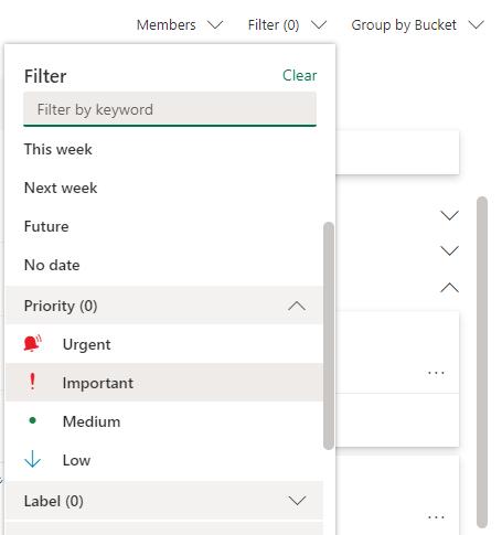 office 365 sharepoint filter tasks feature