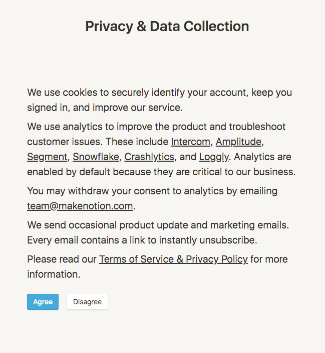 notion privacy statement