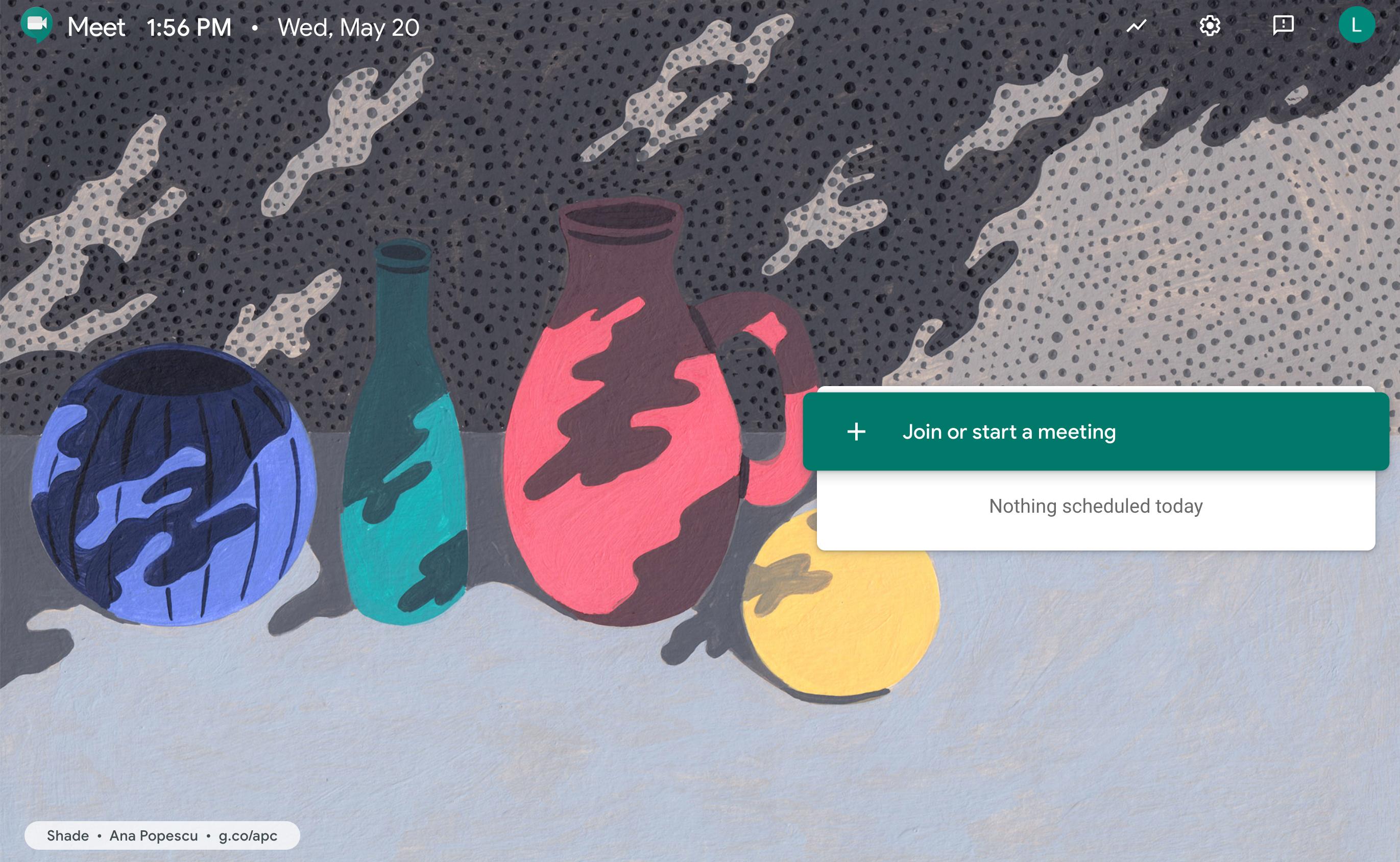Google Meet UI