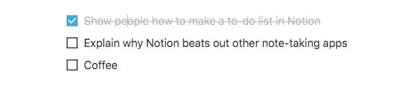 notion checklist