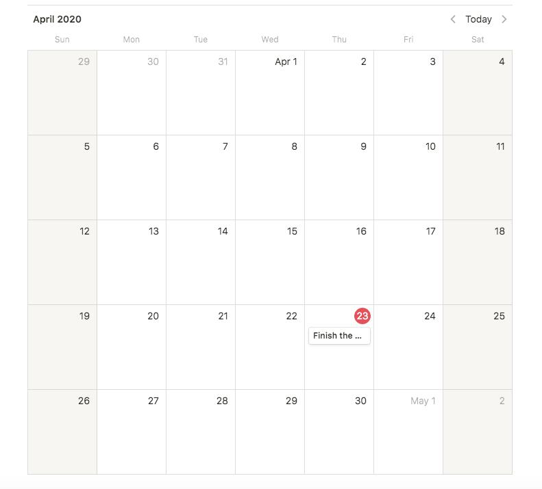notion calendar