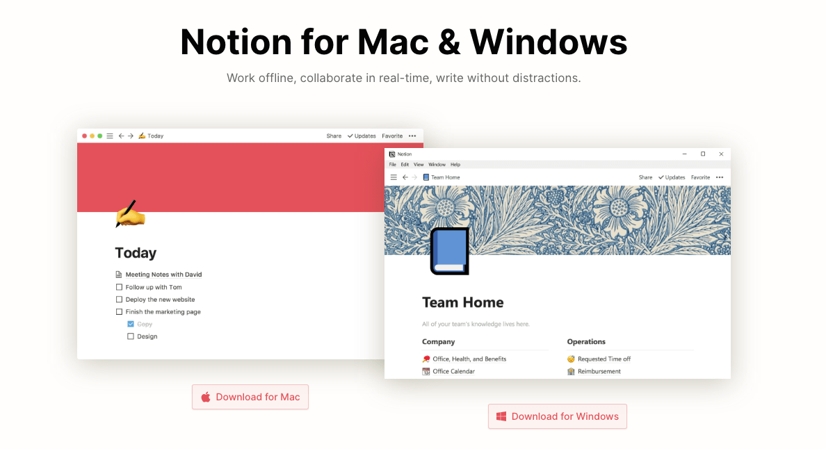 notion desktop download page