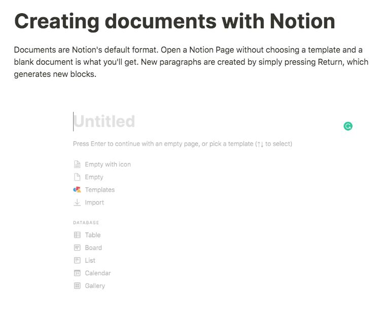 notion document creator