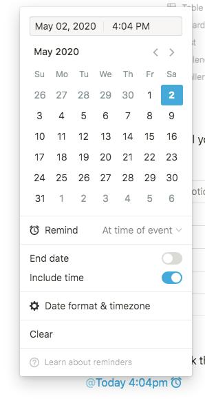 notion scheduling