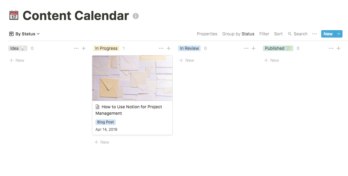 notion content calendar template