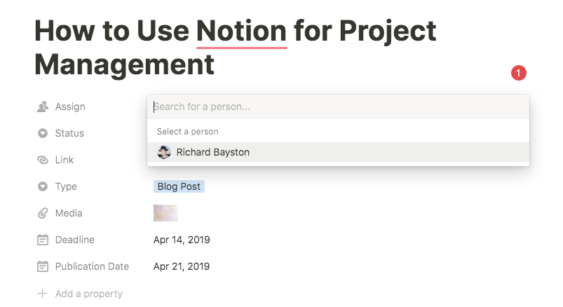 notion assign tasks