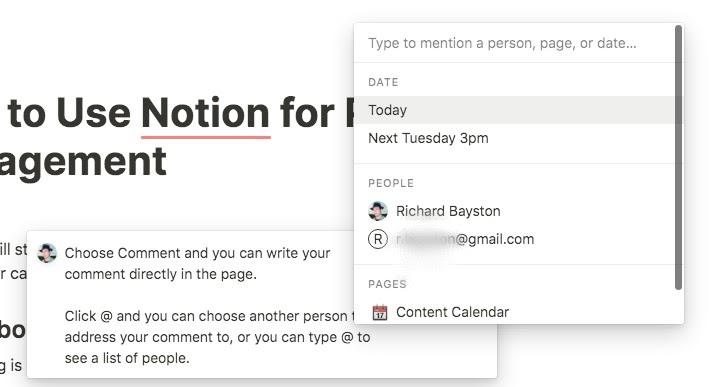 notion tagging option