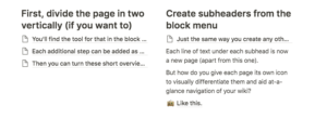 notion formatting example